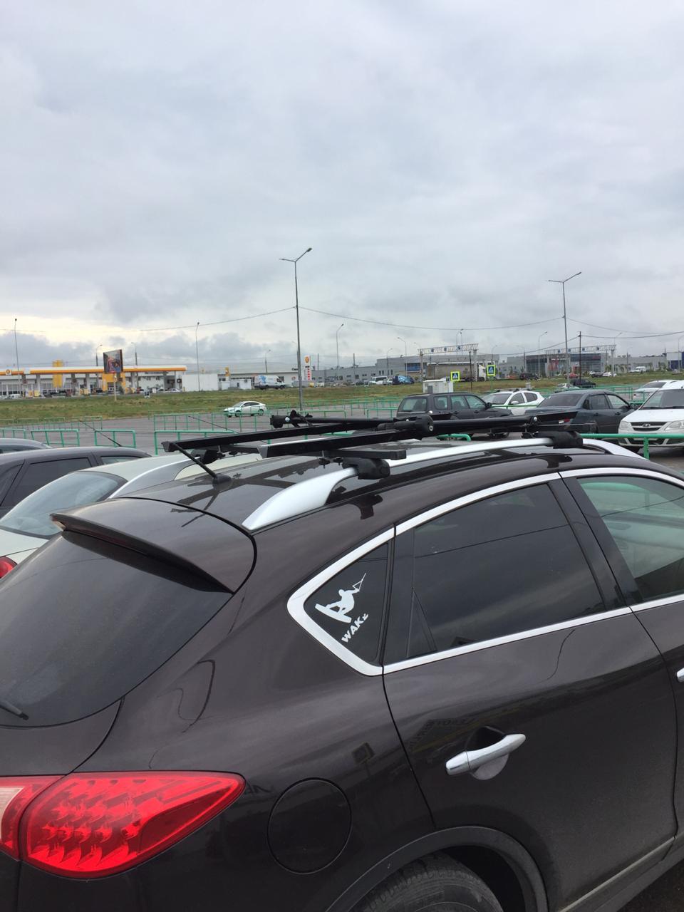 Аренда: Крепеж для перевозки велосипеда на крыше машины