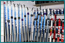 Аренда: Беговые лыжи для классического хода с креплением SNS (комплект)